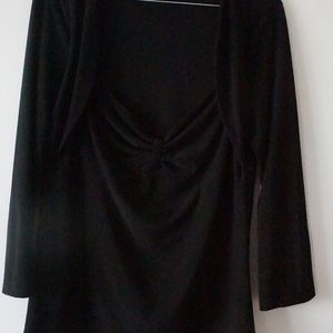 White House Black Market Tops - White House Black Market Dressy Top Black L